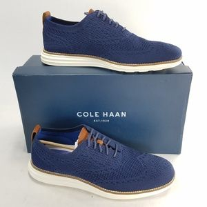 Cole Haan Grand OS C27960 Wingtip Navy Oxfords
